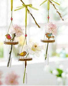 ci - popisek obrazku 1 (home crafts spring) Bird Crafts, Easter Crafts, Home Crafts, Fun Crafts, Diy And Crafts, Arts And Crafts, Box Creative, Beautiful Mehndi Design, Spring Birds
