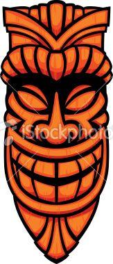 Tiki Art | tiki mask Royalty Free Stock Vector Art Illustration