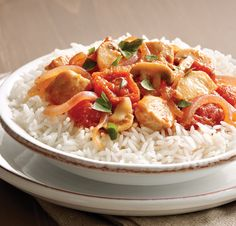 Tuscan Chicken with Tomatoes and Rice #recipe using savory mushrooms, Italian-style tomatoes, fresh basil, juicy chicken and @SuccessRice.