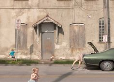 Available for sale from The Photographers' Gallery, Julie Blackmon, Loading Zone Digital c-type print, 40 × 53 in Artistic Photography, Color Photography, Street Photography, Narrative Photography, Contemporary Photography, Contemporary Art, Laura Makabresku, Diane Arbus, Ansel Adams