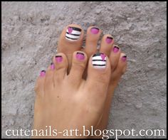 Image detail for -maroc-cutenails-art: 4 summer pedicures,easy & fun designs, if only I had cute toes & pretty feet! So Nails, Cute Toe Nails, Fancy Nails, How To Do Nails, Pretty Nails, Hair And Nails, Simple Pedicure Designs, Toe Nail Designs, Pedicure Nail Art