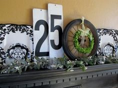 Not your average Christmas mantle