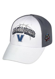 777f6380a34 Villanova Wildcats 2016 NC White Front Gray Top of the World Adjustable Hat Ncaa  Basketball Champions