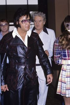 Elvis with Red West and father Vernon circa 1970s