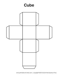 Printable Cube Template Many more