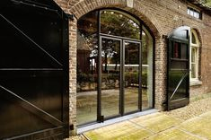 Cafe Design, House Design, Garage Door Windows, Bungalow, Barn Renovation, Cottage Farmhouse, Bar Lounge, Stone Houses, Pergola