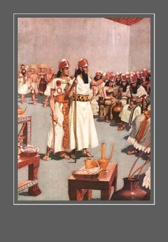 HERGET Painting Ancient Mesopotamia the Creation by PageStudio, $8.00
