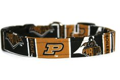 Purdue Dog Collar by ALeashACollar on Etsy Handmade Dog Collars, Handmade Gifts, Belt, Trending Outfits, Unique Jewelry, Dogs, Accessories, Vintage, Etsy