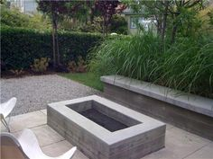 fire-pit-Landscaping, fire pits, design, patios, Water feature in the backyard - fire pit landscaping Rustic Fire Pits, Metal Fire Pit, Concrete Fire Pits, Fire Fire, Garden Fire Pit, Diy Fire Pit, Fire Pit Backyard, Rectangular Fire Pit, Square Fire Pit