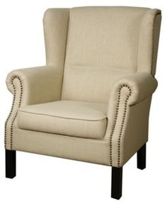 An almost perfect wing back chair, albeit boring fabric Lincoln Wingback Chair, Flax