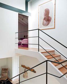 Escalier - rampe métallique noire