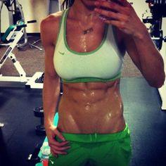 Sweaty abs