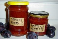 Sklenice se švestkovou marmeládou Ketchup, Salsa, Jar, Homemade, Food, Home Made, Essen, Salsa Music, Meals