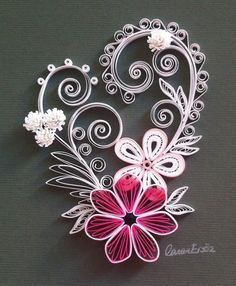 Quilling. Romantic pattern. By Canan Ersöz.