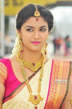 Keerthi Suresh, bridal look
