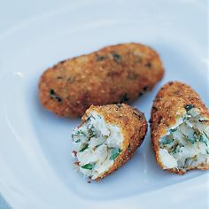 These croquettes are made from bacalhau, the dried-fish staple of Latin America and Western Europe.