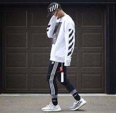 Off-White & Adidas. - Yeezy Shirt - Ideas of Yeezy Shirt - Off-White & Adidas. Yeezy Outfit, Adidas Outfit, Mode Streetwear, Streetwear Fashion, Streetwear Clothing, Hypebeast Outfit, Mens Fashion, Fashion Outfits, Fashion Trends