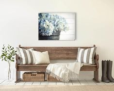 Etsy Artist First LIght Photo uses the entryway from the Modern Farmhouse Collection to show her beautiful Hydrangea wood print on the all. You can purchase the Modern Farmhouse Collection from: http://www.arianafalerni.com/design/products/modern-farmhouse-collection/