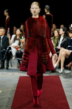 """Deep, rich, rouge"" Givenchy Fall 2015 RTW Collection - Style.com. Long live fashion: LÜR Nail presents the best designer runway looks of the Paris Autumn/Winter 2015 Collections."
