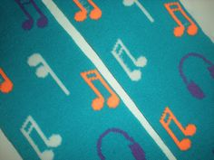 Teal Music Notes Baby Legs.