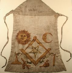 Masonic apron belonging to Robert Burns - grandad loved Robbie Burns and he would NEVER tell me the mason secrets!
