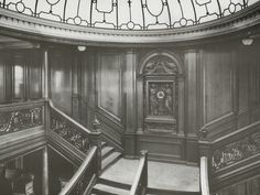 First Class Staircase, RMS Titanic, 04/01/1912.