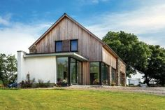 """Building commenced in 2007 on this timber framed """"ECO House"""" in rural County Down. The imaginative design from BGA Architects created a superb family home. Architect House, Architect Design, Concrete Formwork, Passive House, Building A House, Home And Family, New Homes, Exterior, House Design"""