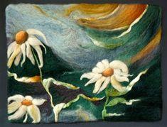 Needle felting painting