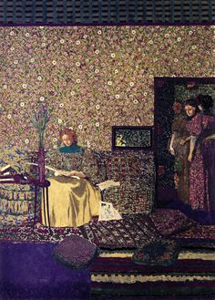 jean-édouard vuillard(1868–1940), figures in an interior: intimacy, 1896. distemper on canvas, 212.5 x 154.5 cm. musee du petit palais, paris, france http://www.the-athenaeum.org/art/detail.php?ID=54642
