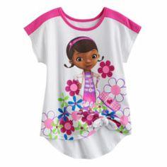 Disney Doc McStuffins Floral Tee - Girls 4-6x
