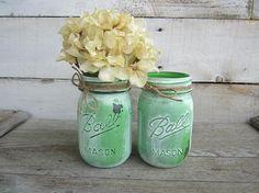 Mason Jar Decor Mason Jar Decor  Farmhouse Decor  Chalk Painted Mason Jars