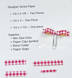 Paper Clip Bows measurements - chicnscratch