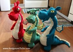Dragons In My Kitchen! ~ Free Pattern with Video Series ~ Amigurumi To Go Dragons In My Kitchen! ~ Free Pattern with Video Series ~ Amigurumi To Go Cute Crochet, Crochet Crafts, Crochet Projects, Crochet Baby, Knit Crochet, Beautiful Crochet, Simple Crochet, Crochet Tutorials, Video Tutorials