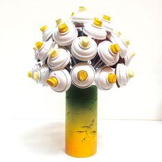 #canlove spray can flower boquet