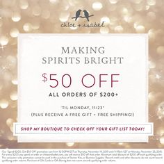 Starts this Thursday!!! Don't miss out www.chloeandisabel.com/boutique/Rosemary