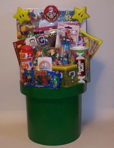 15 of the most creative easter baskets on the planet easter mario warp pipe gift negle Image collections