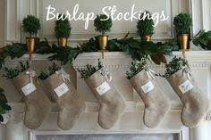 Burlap Stockings | 25 Must Have Christmas Decorations for Your Home #BrennanHoliday