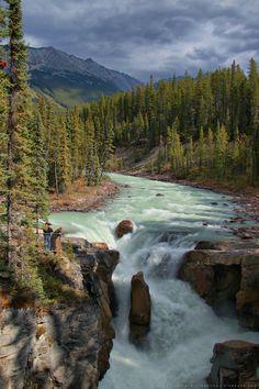 Sunwapta Falls, Jasper National Park, Alberta, Canada | by Pieter Rottiers, via 500px