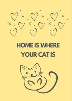 Home is where your cat is. A cute, lined notebook for cat lovers. 110 pages, matte finish. Check it out! Notebooks, Journals, Lined Notebook, Check It Out, Cat Lovers, It Is Finished, Cats, Funny, Inspiration