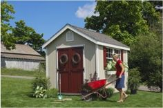 Amazon.com : Little Cottage 8 x 10 ft. Williamsburg Colonial Panelized Garden Shed : Storage Sheds : Home Improvement