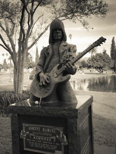 Tombstone of Johnny Ramone in Hollywood Forever Cemetery, Santa Monica Boulevard, Hollywood