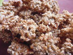 Zdravá a krásná...: Semínkové sušenky - včetně kcal/kj Krispie Treats, Rice Krispies, Snack Recipes, Snacks, Food And Drink, Menu, Breakfast, Desserts, Advent