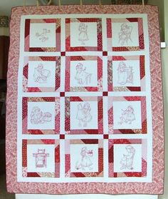 Advanced Embroidery Designs. Free Projects and Ideas. Sewing Girl Children's Story Quilt.