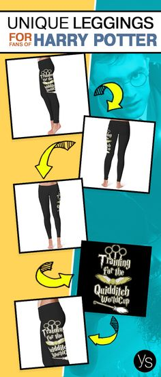 "Grab these awesome ""Training for the Quidditch Worldcup"" Harry Potter inspired Leggings. Click to learn more."