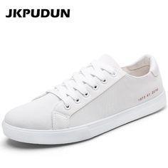 c3c770d3268c JKPUDUN Men canvas Shoes Casual Outdoor Plimsolls Luxury Brand Designer  Fashion Mens Trainers Breathable Flats White Alpargatas