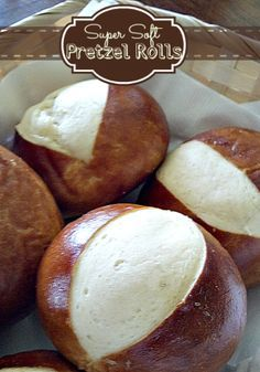 Easy Super Soft Pretzel Rolls- these are delicious! Fabulessly Frugal Easy Super Soft Pretzel Rolls- these are delicious! Pretzel Roll Recipe, Pretzel Rolls, Pretzel Bread, Pretzel Dough, Pretzel Bites, Bread Recipes, Baking Recipes, Pudding Recipes, Baking Ideas
