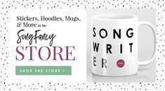 Songwriting swag available on the SongFancy Store Christmas Gift List, Christmas Wreaths To Make, Blogger Blogs, Writing Lyrics, The Fragile, Music Industry, Your Music, Music Lovers, Are You Happy