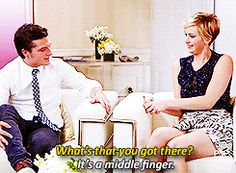When she stealthily gave Josh Hutcherson the middle finger. SO SNEAKY! | 21 Times Jennifer Lawrence Totally Nailed The Whole Interview Thing