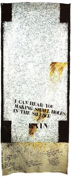 Rain, 1979 by Ralph Hotere. The use of stencil for the text Nz Art, Art For Art Sake, New Zealand Art, Maori Art, Kiwiana, Conceptual Art, Traditional Art, Love Art, History