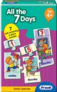A charming puzzle to help children learn the days of the week and then place them in the correct order. The activities of each day differ, with which the children can easily identify